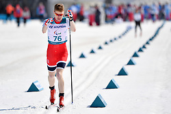 OLSRUD Hakon NOR LW8 competing in the ParaSkiDeFond, Para Nordic Skiing, Sprint at  the PyeongChang2018 Winter Paralympic Games, South Korea.