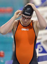04-04-2015 NED: Swim Cup, Eindhoven<br /> Amy de Langen, 100m freestyle<br /> Photo by Ronald Hoogendoorn / Sportida