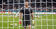 Gianluigi Buffon warms-up prior an International Champions Cup match at Hard Rock Stadium in Miami Gardens, Florida, on Wednesday July 26, 2017.
