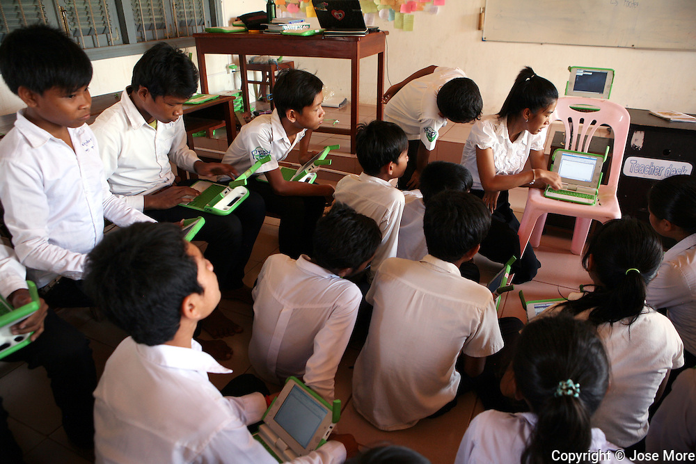 Siem Reap Cambodia:  PEPY (Promoting Education, emPowering Youth) is a Cambodia-based education and youth-leadership non-governmental organization (NGO). Peppy uses donated OLPC laptops for their school program.  Jose More Photography