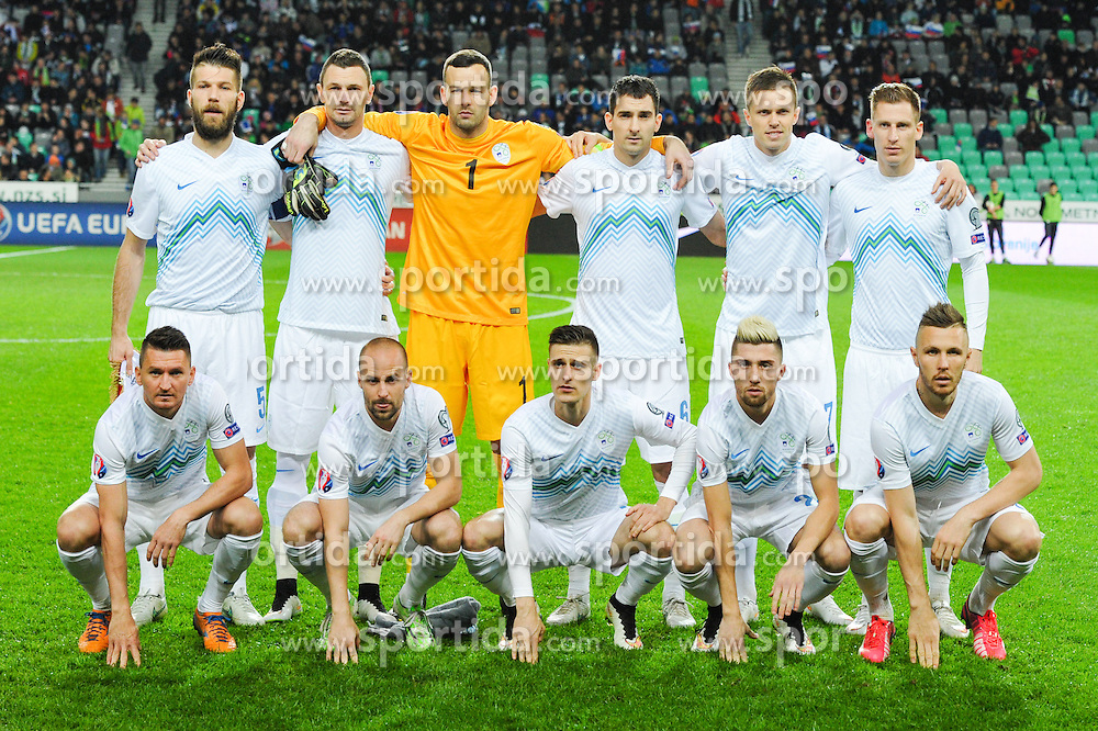 Team of Slovenia during football match between NationalTeams of Slovenia and San Marino in Round 5 of EURO 2016 Qualifications, on March 27, 2015 in SRC Stozice, Ljubljana, Slovenia. Photo by Mario Horvat / Sportida