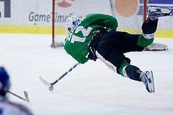 Petr Sachl (HDD Tilia Olimpija, #12) scores a goal on empty net during ice-hockey match between HDD Tilia Olimpija and EC Rekord-Fenster VSV in 46th Round of EBEL league, on Februar 6, 2011 at Hala Tivoli, Ljubljana, Slovenia. (Photo By Matic Klansek Velej / Sportida.com)