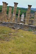 Alberto Carrera, Roman Ruins of Baelo Claudia archaeological site, Trajan statue, Bolonia, Tarifa, Costa de la Luz, Cádiz Province, Andalusia, Spain, Europe