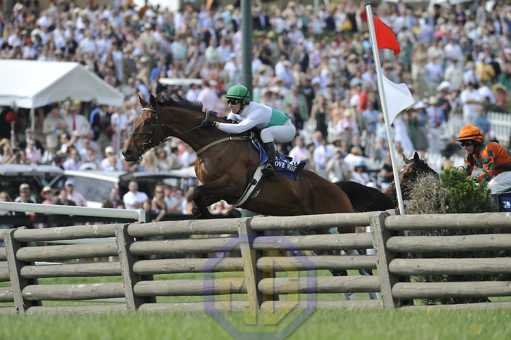03 May 2008:  Jody Petty aboard Move West clears a jump in the $100K race for the Virginia Gold cup race of the 83rd running of the Virginia Gold Cup Races on October 20, 2007 at the Great Meadow in The Plains, Va..