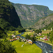 Flåm Railway (Flåmsbana, the train runs through spectacular scenery, alongside the Rallar Road, vertiginous mountainsides, foaming waterfalls, through 20 tunnels and offers so many viewpoints), Fjords, Norway, Europe