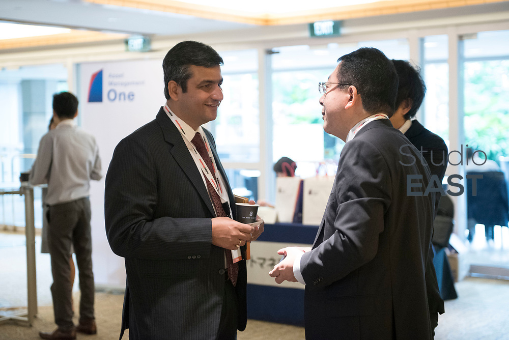 Set-up and registration during the 9th Annual Southeast Asia Institutional Investment Forum, at the Ritz-Carlton Millenia, Singapore, Singapore, on 7 December 2017. Photo by Steven Lui
