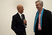 ALEX KATZ; MARTIN GAYFORD, Alex Katz opening. Timothy Taylor gallery. London. 3 March 2010.