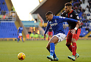 David Davis shields the ball during the Sky Bet Championship match between Birmingham City and Reading at St Andrews, Birmingham, England on 13 December 2014.
