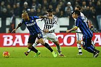 Felipe Melo Inter, Alvaro Morata Juventus,<br /> Torino 27-01-2016, Juventus Stadium, Football Calcio 2015/2016 Coppa Italia, Juventus - Inter, Foto Filippo Alfero/Insidefoto