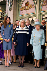LONDON,ENGLAND-1-MAR-2012-ROTA- Britain's Queen Elizabeth, Camilla, Duchess of Cornwall and Catherine, Duchess of Cambridge visit the Fortnum and Mason store in central London.Photographer Jeff Spicer-Alpha, Supplied by Ian Jones Photography..No UK Sales for 28 days until 1-4-12