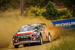 November 18, 2017 - New South Wales, Australia - Stéphane Lefebvre (FRA) and co-driver Gabin Moreau (FRA) of CitroÃ«n World Rally Team compete in the Argents section on day two of the Rally Australia round of the 2017 FIA World Rally Championship in Australia. (Credit Image: © Hugh Peterswald/Pacific Press via ZUMA Wire)