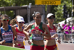 August 13, 2017 - London, United Kingdom - The campions: Palmisano, Lyu, Gonzalez and Yang at Women 20 K Race Walk at IAAF World Championships in London, UK on August 13, 2017. The race took place on The Mall, most picturesque street of London and attracted thousands spectators. (Credit Image: © Dominika Zarzycka/NurPhoto via ZUMA Press)