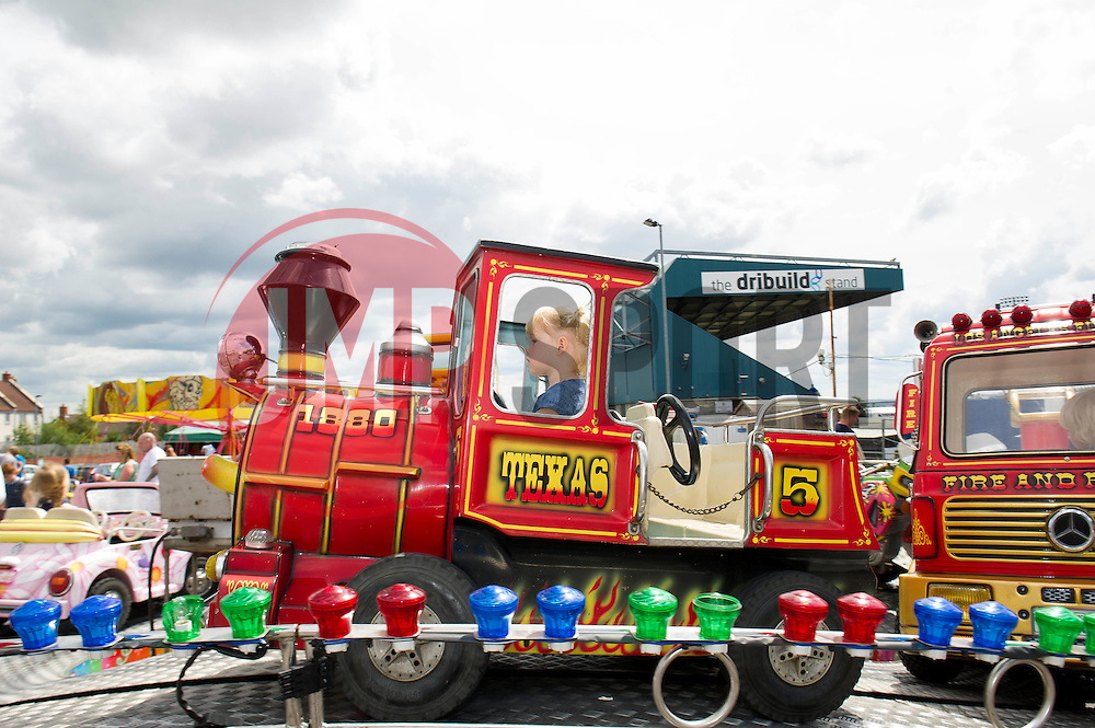 Rides outside the Memorial Stadium - Photo mandatory by-line: Dougie Allward/JMP - Mobile: 07966 386802 27/07/2014 - SPORT - FOOTBALL - Bristol - Bristol Rovers - - Memorial Stadium - Fun Day