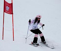 23.01.2012, Planai, Schladming, AUT, FIS Alpin Ski Weltcup, Slalom Herren, Sporthilfe Ski for Gold Promirennen, im Bild Sängerin Antonia // Singer Antonia at the Sporthilfe Ski for Gold VIP Race during the FIS World Cup Alpine Skiing at the 'Planai', Schladming, Austria on 2012/01/23, EXPA Pictures © 2012, PhotoCredit: EXPA/ Erwin Scheriau