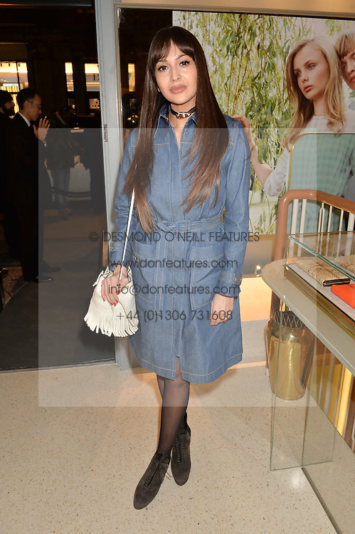 ZARA MARTIN at the launch of the new J&M Davidson flagship shop at 104 Mount Street, London on 3rd February 2016.