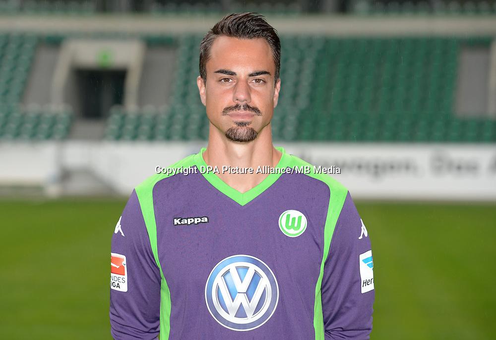 German Soccer Bundesliga - Photocall VfL Wolfsburg on 30 July 2014 in Wolfsburg, Germany: Goalkeeper Diego Benaglio.