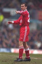 COVENTRY, ENGLAND - Saturday, April 6, 1996: Liverpool's Steve Harkness in action against Coventry City during the Premiership match at Highfield Road. Coventry won 1-0. (Pic by David Rawcliffe/Propaganda)