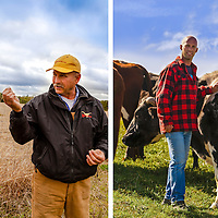 Canadian organic beef farmers Bryan Gilvesy and Mike Beretta.