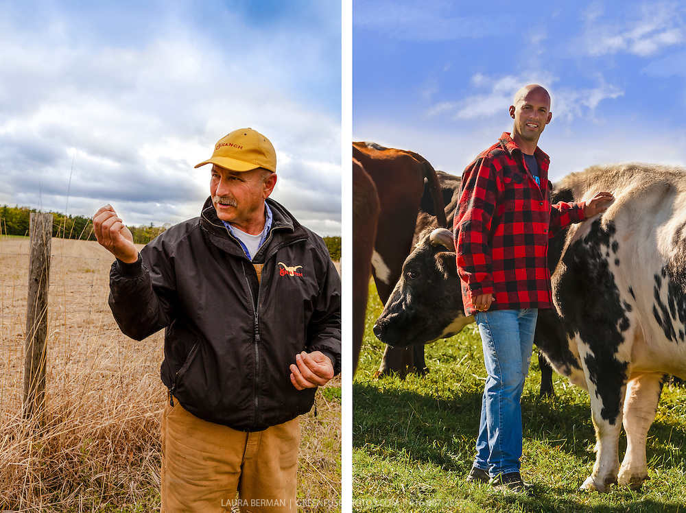 Canadian organic beef farmers Bryan Gilvesy and Mike Beretta.