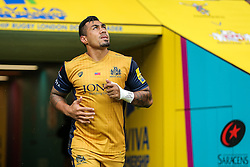 Tusi Pisi of Bristol Rugby runs out for kick off - Rogan Thomson/JMP - 03/09/2016 - RUGBY UNION - Twickenham Stadium - London, England - Harlequins v Bristol Rugby - Aviva Premiership London Double Header.