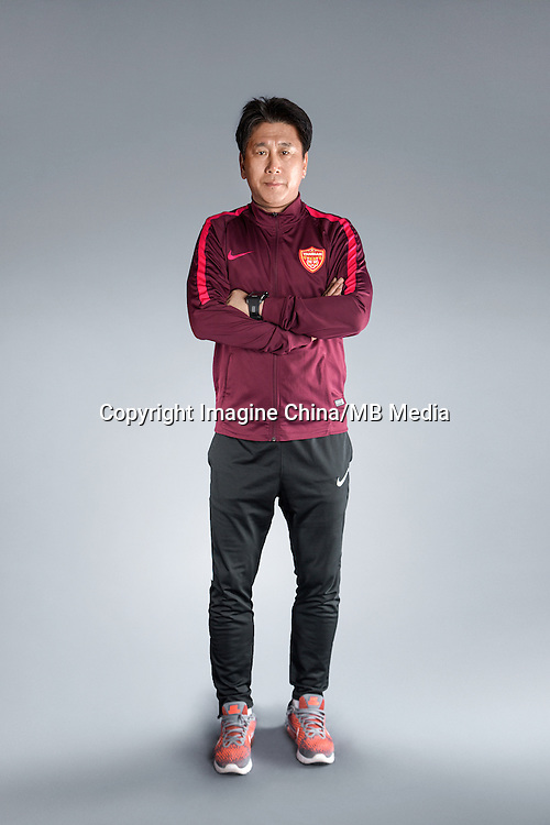 Portrait of head coach Park Tae-ha of Yanbian Funde F.C. for the 2017 Chinese Football Association Super League, in Namhae County, South Gyeongsang Province, South Korea, 11 February 2017.