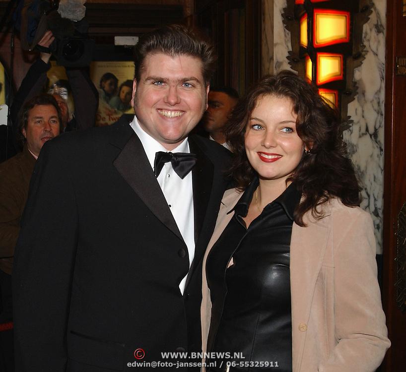 Premiere de Tweeling Amsterdam, Edward Stelder en vriendin Anne Pauwels