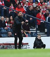 Football - 2017 / 2018 William Hill Scottish Cup (SFA) - Semi-Final: Motherwell vs. Aberdeen<br /> <br /> Aberdeen Manager Derek McInnes at Hampden Park.<br /> <br /> COLORSPORT
