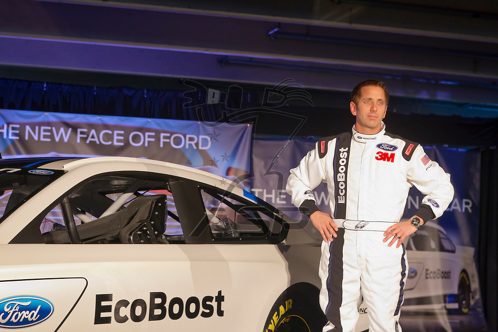 Concord, NC - January 24, 2012:  The NASCAR Media Tour makes its' stop at Charlotte Motor Speedway in Concord, NC for Roush Fenway Racing and the unveiling of the 2013 Ford Mustang with EcoBoost.