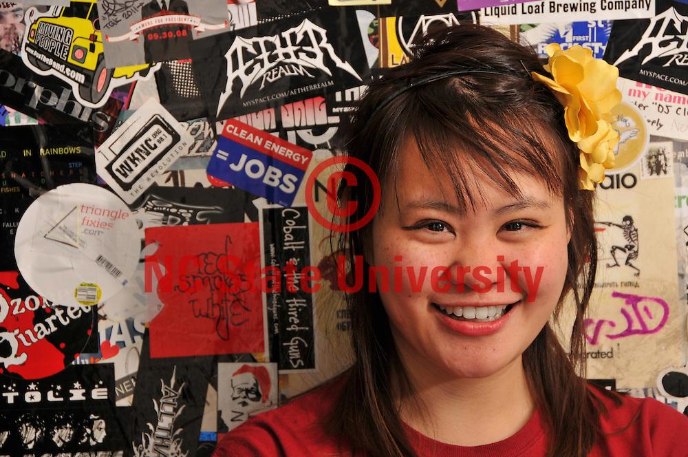 WKNC disc jockey May Chung.