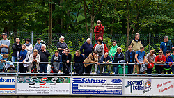 ROTTACH-EGERN, GERMANY - Friday, July 28, 2017: Liverpool supporters watch the team during a training session at FC Rottach-Egern on day three of the preseason training camp in Germany. (Pic by David Rawcliffe/Propaganda)