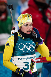 February 12, 2018 - Pyeongchang, SOUTH KOREA - 180212 Elisabeth HÅ¡gberg of Sweden prior in the Women's Biathlon 10km Pursuit during day three of the 2018 Winter Olympics on February 12, 2018 in Pyeongchang..Photo: Jon Olav Nesvold / BILDBYRN / kod JE / 160156 (Credit Image: © Jon Olav Nesvold/Bildbyran via ZUMA Press)