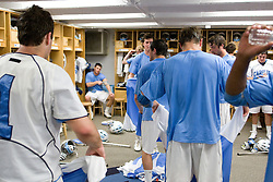 19 April 2008: North Carolina men's lacrosse before a 13-9 win over the Hofstra Pride at Kenan Stadium in Chapel Hill, NC.