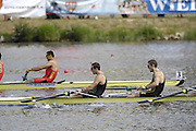 Poznan, POLAND,  AUS M4-  Bow,  Terrence ALFRED, James MARBURG, Cameron McKENZIE-McHARG and Francis HEGERTY, secure Olympic selection for the 2008 Beijing Olympics by winning the gold medal in the  Men's four, at the 2008 Olympic Qualification  Rowing Regatta. Malta Rowing Course on Wednesday, 18/06/2008. [Mandatory Credit:  Peter SPURRIER / Intersport Images] Rowing Course:Malta Rowing Course, Poznan, POLAND