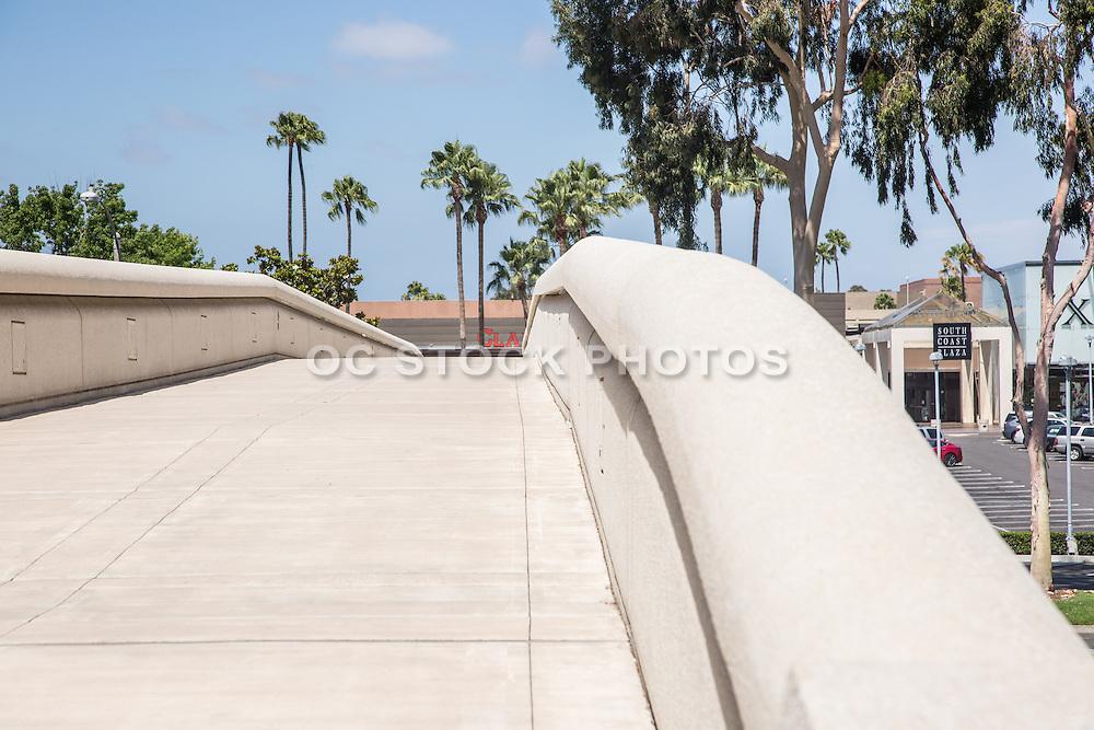 Pedestrian Bridge to South Coast Plaza over Bristol St. in Costa Mesa