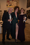 MICHAEL SANDLE, JESSICA ST JAMES, HELEN BOADEN, 2019 Royal Academy Annual dinner, Piccadilly, London.  3 June 2019