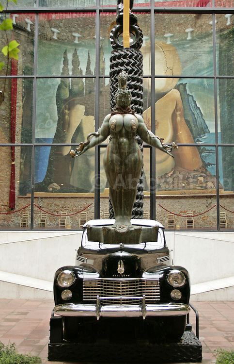 Surreal art in the Salvador Dali Museum in Figueres, Catalonia, Spain