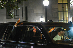 June 16, 2017 - Morristown, Pennsylvania, U.S - BILL COSBY, gives a thumbs up as a crowd of supporters chant, 'Free Bill Now' on the  fifth day of jury deliberations. (Credit Image: © Ricky Fitchett via ZUMA Wire)