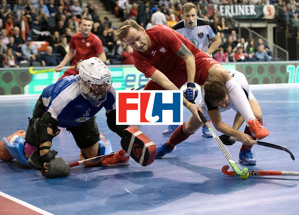 BERLIN - Indoor Hockey World Cup<br /> Quarterfinal 2: Austria - Poland<br /> foto: Artur Mikula and Patrick Stanzl <br /> WORLDSPORTPICS COPYRIGHT FRANK UIJLENBROEK