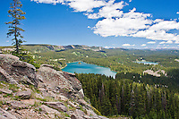 Island Lake (center) and Ward lake on the left.  At the Land O'Lakes Area on the Grand Mesa, Colorado.