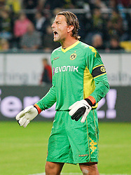 04.08.2010, Signal Iduna Park, Dortmund, GER, Freundschaftsspiel, Borrussia Dortmund vs Manchester City, im Bild: Torwart Roman Weidenfeller (Dortmund GER #1) schreit, Mund weit offen, EXPA Pictures © 2010, PhotoCredit: EXPA/ nph/  Scholz+++++ ATTENTION - OUT OF GER +++++ / SPORTIDA PHOTO AGENCY