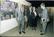 10/09/1988<br /> 09/10/1988<br /> 10 September 1988<br /> ROSC 1988 Exhibition at the Guinness Hop Store. <br /> Sir Norman Macfarlane, (left) Chairman of Guinness plc. touring the exhibition while Lady Gretta Macfarlane chats to Mr Pat Barry, Director of Corporate Affairs, Guinness Ireland, during their visit to ROSC '88.