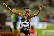 Sifan Hassan (Netherlands), winner of the Women's 5000m, during the IAAF Diamond League event at the King Baudouin Stadium, Brussels, Belgium on 6 September 2019.