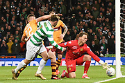 Patrick Roberts weaves through the Motherwell defence during the Betfred Scottish Cup final between Motherwell and Celtic at Hampden Park, Glasgow, United Kingdom on 26 November 2017. Photo by Kevin Murray.