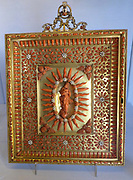 Shrine - Small shrines of gilded metal and coral were a speciality of Trapani, Sicily.  They were used at home and church.  Coral, imbued with protective powers since classical times, was a symbol for Christ's blood.