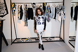Louise Thompson, Made In Chelsea star, attends photocall ahead of her participation in fashion trade event which showcases womenswear, footwear and accessory brands at Pure London, Olympia London, London, United Kingdom. Monday, 10th February 2014. Picture by Nils Jorgensen / i-Images