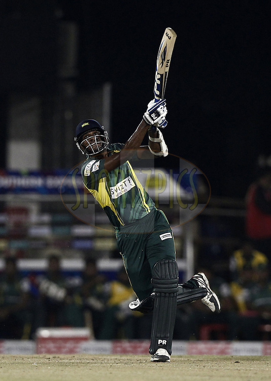 Farveez Maharoof of the SOUTHERN EXPRESS  during the qualifier 4 match of the Oppo Champions League Twenty20 between the Mumbai Indians and the Southern Express held at the Chhattisgarh International Cricket Stadium, Raipur, India on the 14th September 2014<br /> <br /> Photo by:  Deepak Malik / Sportzpics/ CLT20<br /> <br /> <br /> Image use is subject to the terms and conditions as laid out by the BCCI/ CLT20.  The terms and conditions can be downloaded here:<br /> <br /> http://sportzpics.photoshelter.com/gallery/CLT20-Image-Terms-and-Conditions-2014/G0000IfNJn535VPU/C0000QhhKadWcjYs