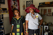 Maureen Okon  (right) runs a craft shop called 'Afrocentric Afrique'.<br /> <br /> Maureen was so inspired by what she learnt, and the other women, at the Youth for Technology business training that she never went back to her consultancy job, she resigned there and then. <br /> <br /> She found the business planning and SWOT analaysis advice the most useful and she uses the business support text messages for ongoing support and motivation.