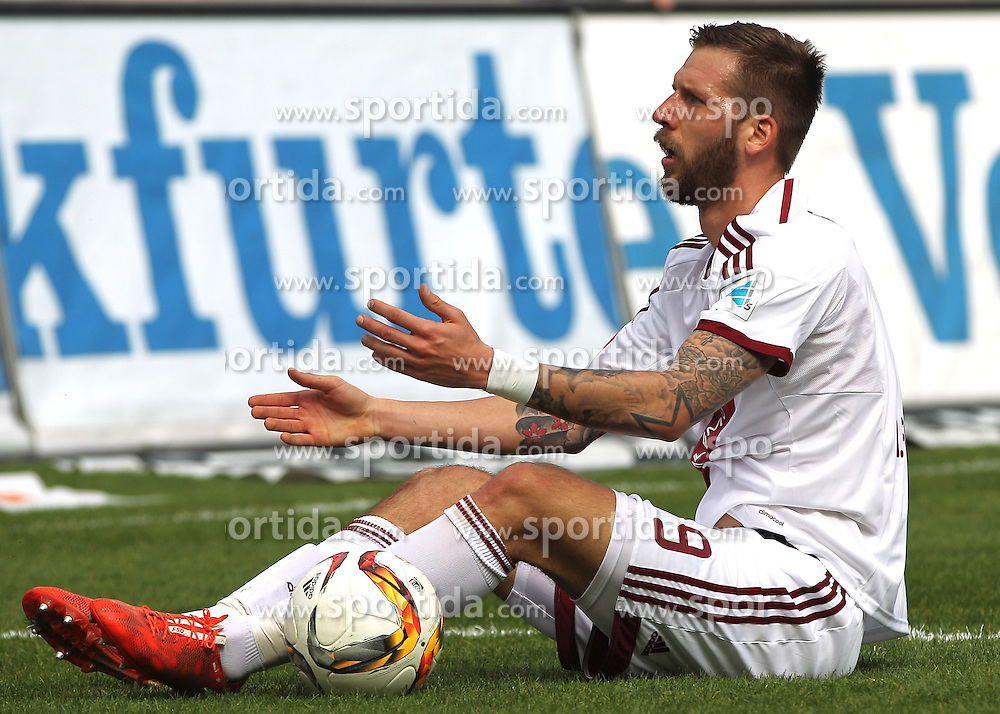 03.04.2016, Volksbank Stadion, Frankfurt, GER, 2. FBL, FSV Frankfurt vs 1. FC Nuernberg, 28. Runde, im Bild v.l. Guido Burgstaller (1. FC Nuernberg) // during the 2nd German Bundesliga 28th round match between FSV Frankfurt and 1. FC Nuernberg at the Volksbank Stadion in Frankfurt, Germany on 2016/04/03. EXPA Pictures &copy; 2016, PhotoCredit: EXPA/ Eibner-Pressefoto/ Voelker<br /> <br /> *****ATTENTION - OUT of GER*****