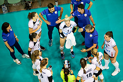 Team Slovenia during volleyball match between National teams of Slovenia and Belgium in 4th Qualification Round of 2019 CEV Volleyball Women's European Championship, on August 25, 2018 in Sports hall Tabor, Maribor, Slovenia. Photo by Urban Urbanc / Sportida
