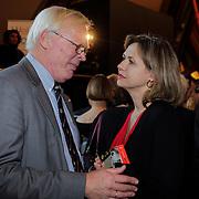 NLD/Amsterdam/20121129- Presentatie Jubileumboek 125 jaar historie Carre, Oud directeur van Carre Hein Jens en de nieuwe directeur Madeleine van der Zwaan